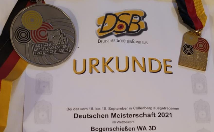 Vier Radeberger Bogenschützen bei den Deutschen Meisterschaften des DSB in Collenberg, Frank Scharsach holt die Silbermedaille